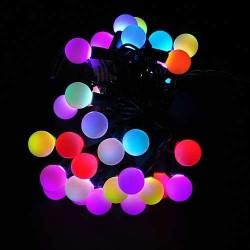 Kalėdinė RGB LED girlianda burbuliukai 50 lempučių  | LED Kalėdinės lemputės