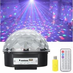 LED Disco rutulys su MP3 grotuvu | Šviečiantis rutulys kristalas MP3 LED