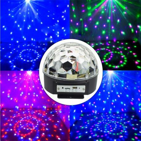 LED Disco rutulys su Bluetooth ir MP3 grotuvu