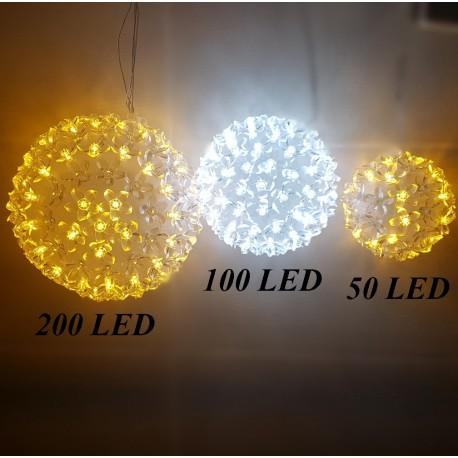 3D gėlių kamuolys 100 LED | M Dydis